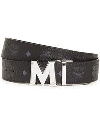 MCM - M Buckle Reversible Belt - Lyst