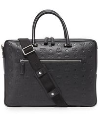 MCM - Otto Monogrammed Leather Briefcase - Lyst