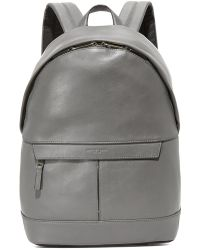 07a6f201c114 ... low cost michael kors odin leather backpack lyst d5bf9 de475