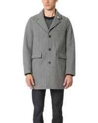Gerald & Stewart - Wool Tailored Coat - Lyst