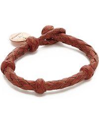 Chamula - Round Woven Leather Bracelet - Lyst
