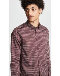 Ted Baker - Camdent Slim Fit Print Sport Shirt - Lyst