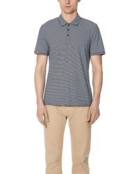 Vince - Feeder Stripe Short Sleeve Polo Shirt - Lyst