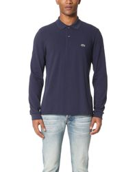 Lacoste - Long Sleeve Classic Polo Shirt - Lyst