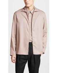 Lemaire - Zipped Shirt - Lyst