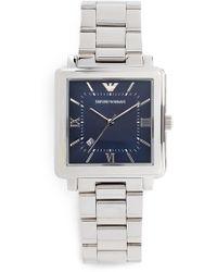 Emporio Armani - Modern Square Watch, 38mm - Lyst