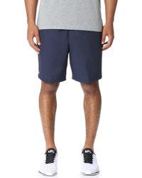 Lacoste - Diamond Weave Taffeta Tennis Shorts - Lyst