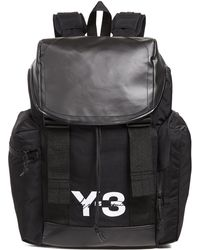 Lyst - Y-3 Y-3 Logo Backpack in Black for Men 0723d347d32df
