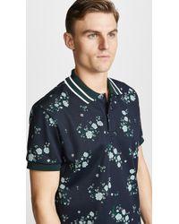 KENZO - 'cheongsam Flower' Regular Fit Polo Shirt - Lyst