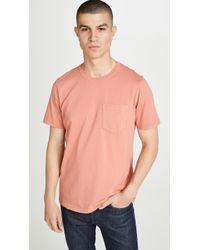 Billy Reid - Washed Pocket T-shirt - Lyst