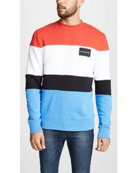 Calvin Klein - Colorblock Box Logo Sweatshirt - Lyst