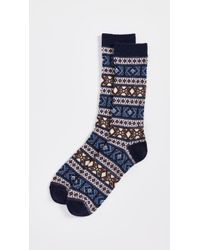 Anonymous Ism - Wool Jacquard Crew Socks - Lyst