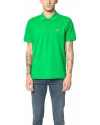 Lacoste - Short Sleeve Classic Pique Polo - Lyst