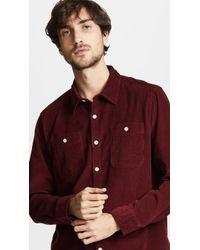 Albam - Otto Cotton-corduroy Shirt - Lyst