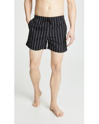 Solid & Striped - Black And White Classic Swim Shorts - Lyst