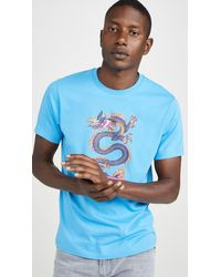94191c729b1a KENZO Blue Signature T-shirt in Blue for Men - Lyst