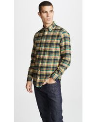 Gitman Brothers Vintage - Hunter Plaid Flannel Shirt - Lyst