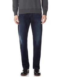 7 For All Mankind - Carsen Easy Straight-leg Luxe Performance Jean - Lyst