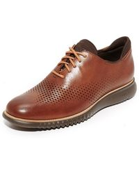 Cole Haan - 2.zerogrand Laser Perforated Wingtip Oxfords - Lyst