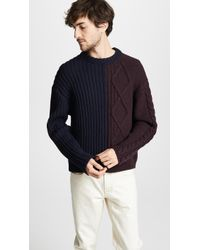 Paul Smith - Cable Knit Sweater - Lyst