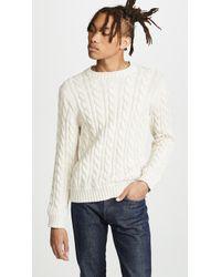 J.Crew - Cotton Heritage Cable Crew Neck Sweater - Lyst