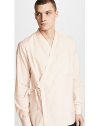 3.1 Phillip Lim - Long Sleeve Kimono Style Shirt With Trapunto Stitch - Lyst