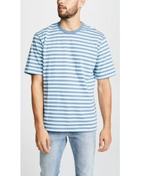 Tres Bien - Striped Cotton-jersey T-shirt - Lyst