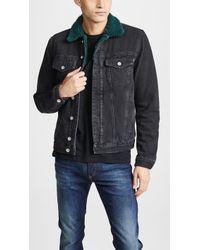 DIESEL - Shearling Denim Jacket - Lyst