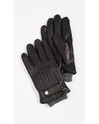 Polo Cashmere Black Lyst Lined Gloves Leather For In Ralph Men Lauren 45AR3Lqj
