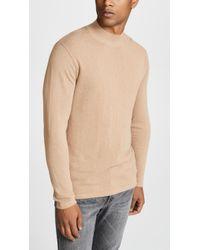 Saturdays NYC - Sean Crepe Mockneck Sweater - Lyst