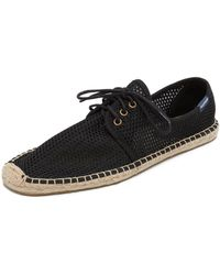 Soludos - Mesh Derby Lace Up Espadrilles - Lyst