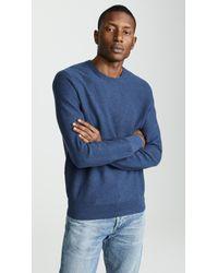 J.Crew - Cotton Garter Crew Neck Sweater - Lyst
