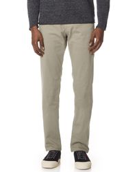 AG Jeans - The Lux Khaki Tailored Trouser - Lyst