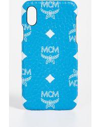 MCM - White Logo Visetos Iphone X Case - Lyst