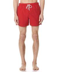 Maison Kitsuné - Par Rec Swim Shorts - Lyst