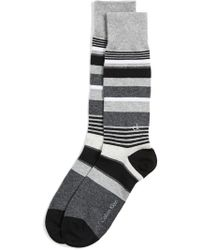 Calvin Klein - Multi Stripe Logo Crew Socks - Lyst