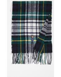 Polo Ralph Lauren - Bear Embroidered Plaid Scarf - Lyst