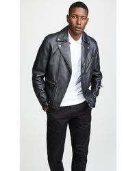 Paul Smith - Leather Biker Jacket - Lyst
