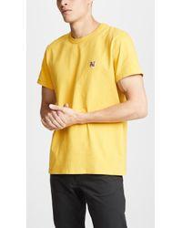 Maison Kitsuné - Fox Head Patch T-shirt - Lyst