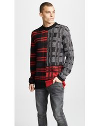 McQ - Patchwork Check Crewneck Pullover - Lyst
