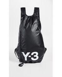 aed9101678 Y-3 Black Neoprene Qrush Backpack in Black for Men - Lyst