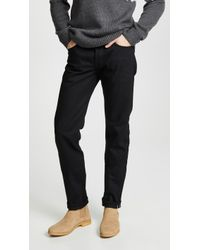 Naked & Famous - Weird Guy - Solid Black Selvedge Jeans - Lyst