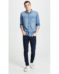 FRAME - Denim Long Sleeve Shirt - Lyst