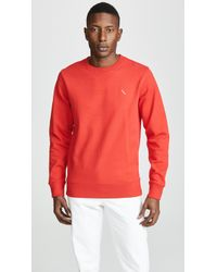 Saturdays NYC - Bowery Slash Embroidered Sweatshirt - Lyst
