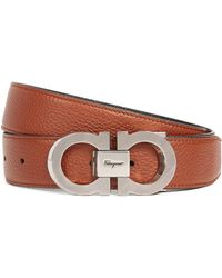 Ferragamo - Double Gancio Adjustable Reversible Belt - Lyst