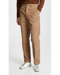 De Bonne Facture - Wide Leg Straight Trousers - Lyst