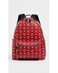 MCM - Stark White Logo Visetos Backpack - Lyst
