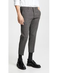 AMI - Cropped Trousers - Lyst