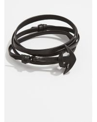 Miansai - Anchor Leather Wrap Bracelet - Lyst