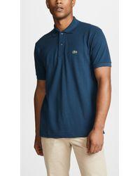 Lacoste - Short Sleeve Pique L.12.12 Classic Fit Polo Shirt, L1212, 0 - Lyst